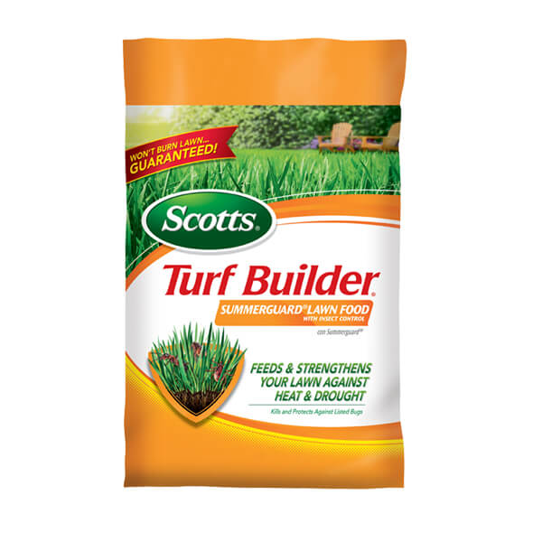 Image of a bag of Scotts Summerguard lawn food