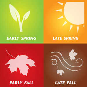 Images showing the different seasons