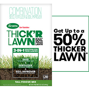 Bag image of Scotts Turf Builder Thick'R Lawn Tall Fescue Mix