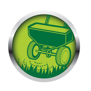 Image of a Cartoon Spreader Showing it applying fertilizer