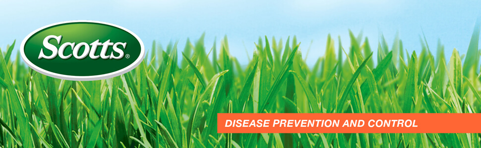 Image of Scott's logo over green grass with caption- Disease Prevention and Control