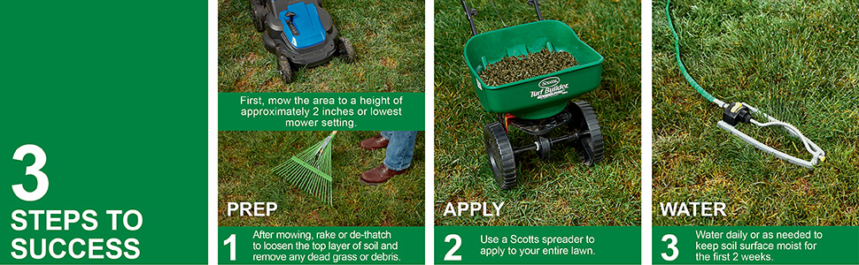 Steps to success for Thick'r lawn tall fascue