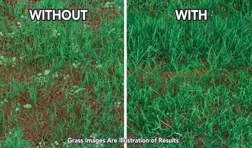 Comparison between a lawn with and without using this product.