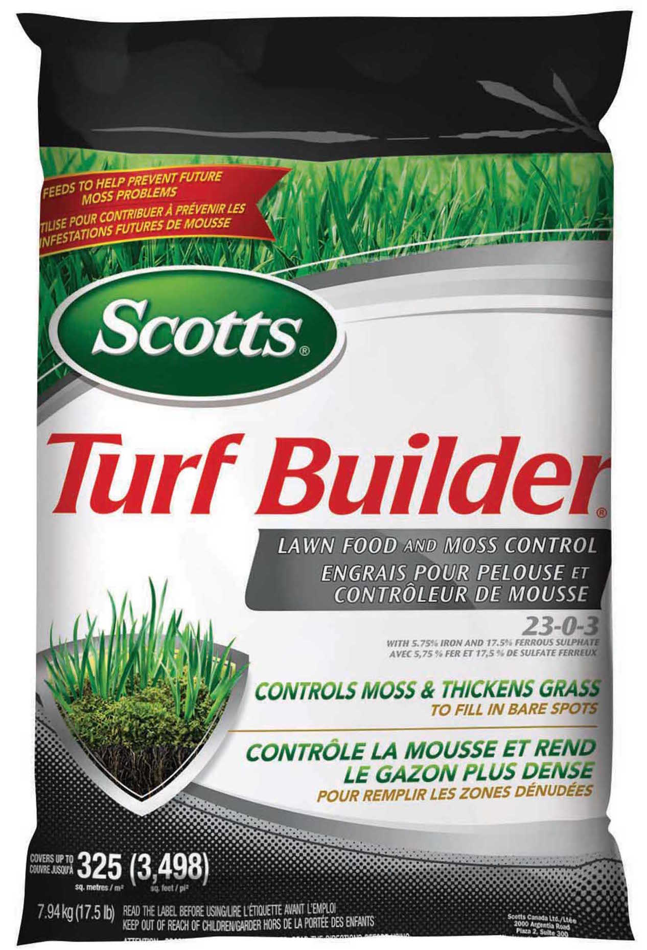 Turf Builder 174 Lawn Food With Moss Control Scotts 174 Canada