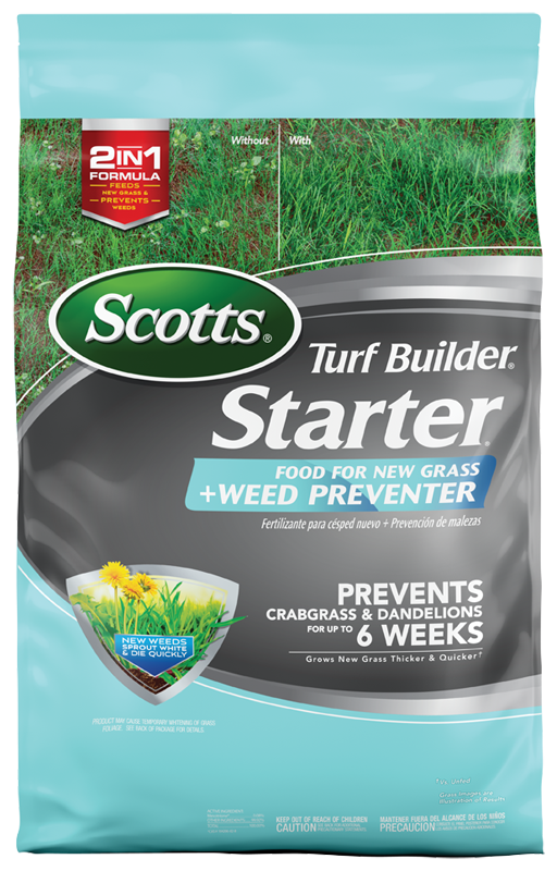Scotts Turf Builder Starter Food For New Gr Plus Weed Preventer