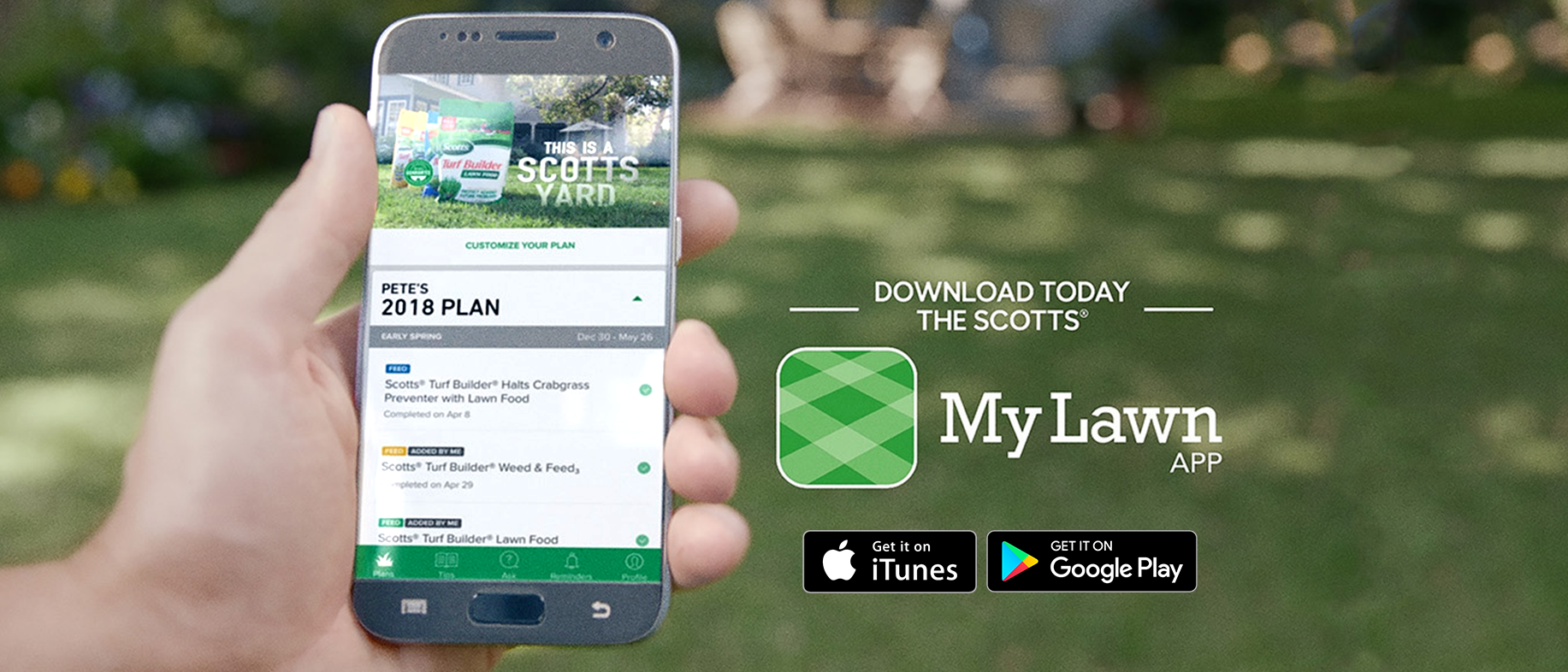 Download the Scotts MyLawn App