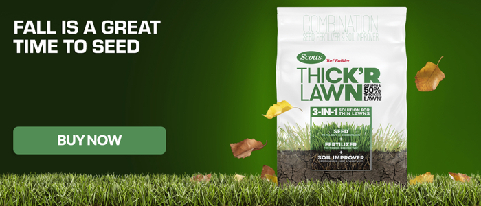 Fall is a Great Time to Seed with Scotts Thick R 3 in 1 Grass Seed
