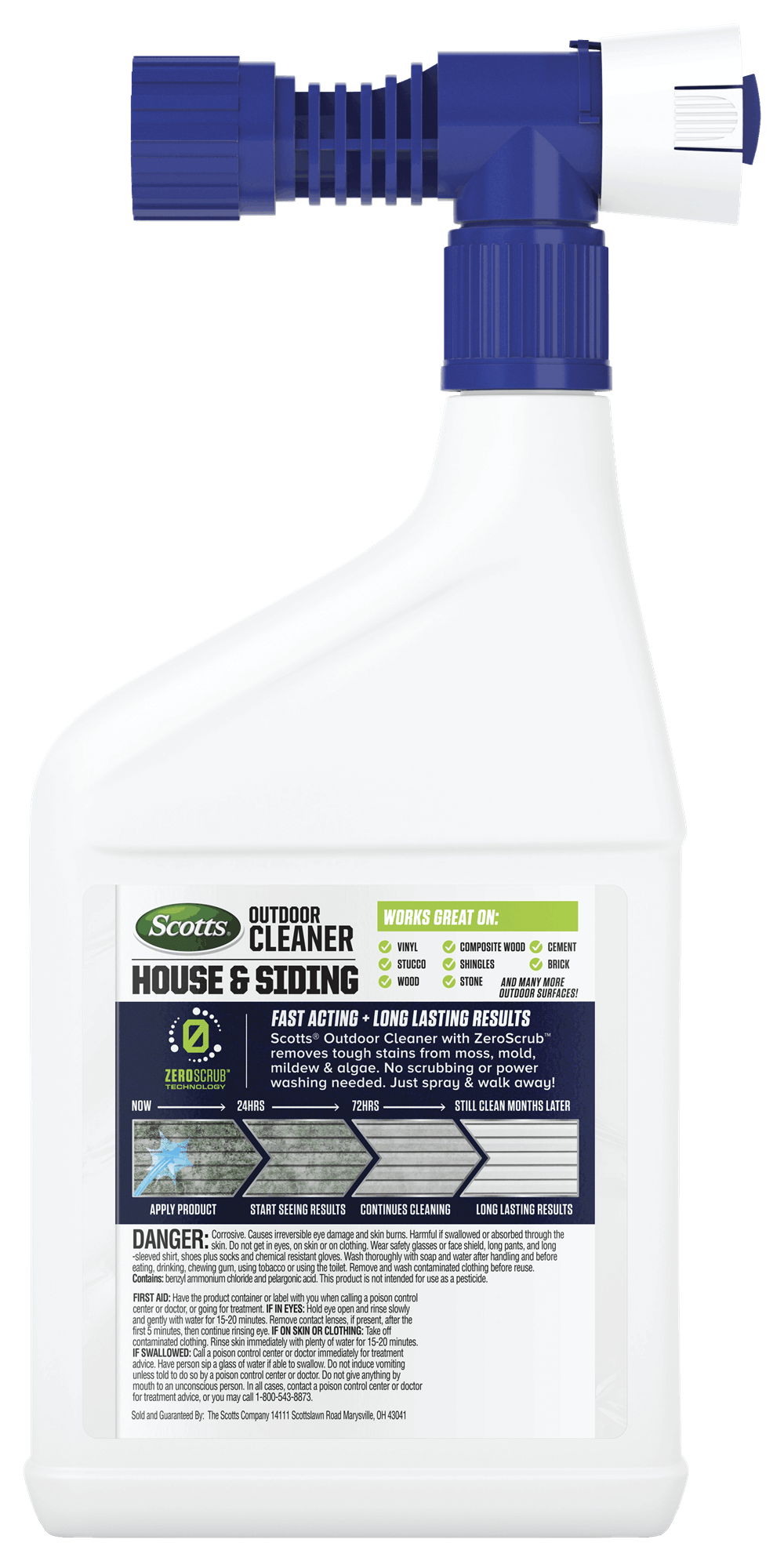 Scotts 174 Outdoor Cleaner House Amp Siding With Zeroscrub