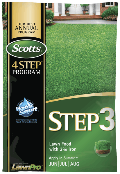 Us Scotts Step 3 Lawn Food With 2 Iron