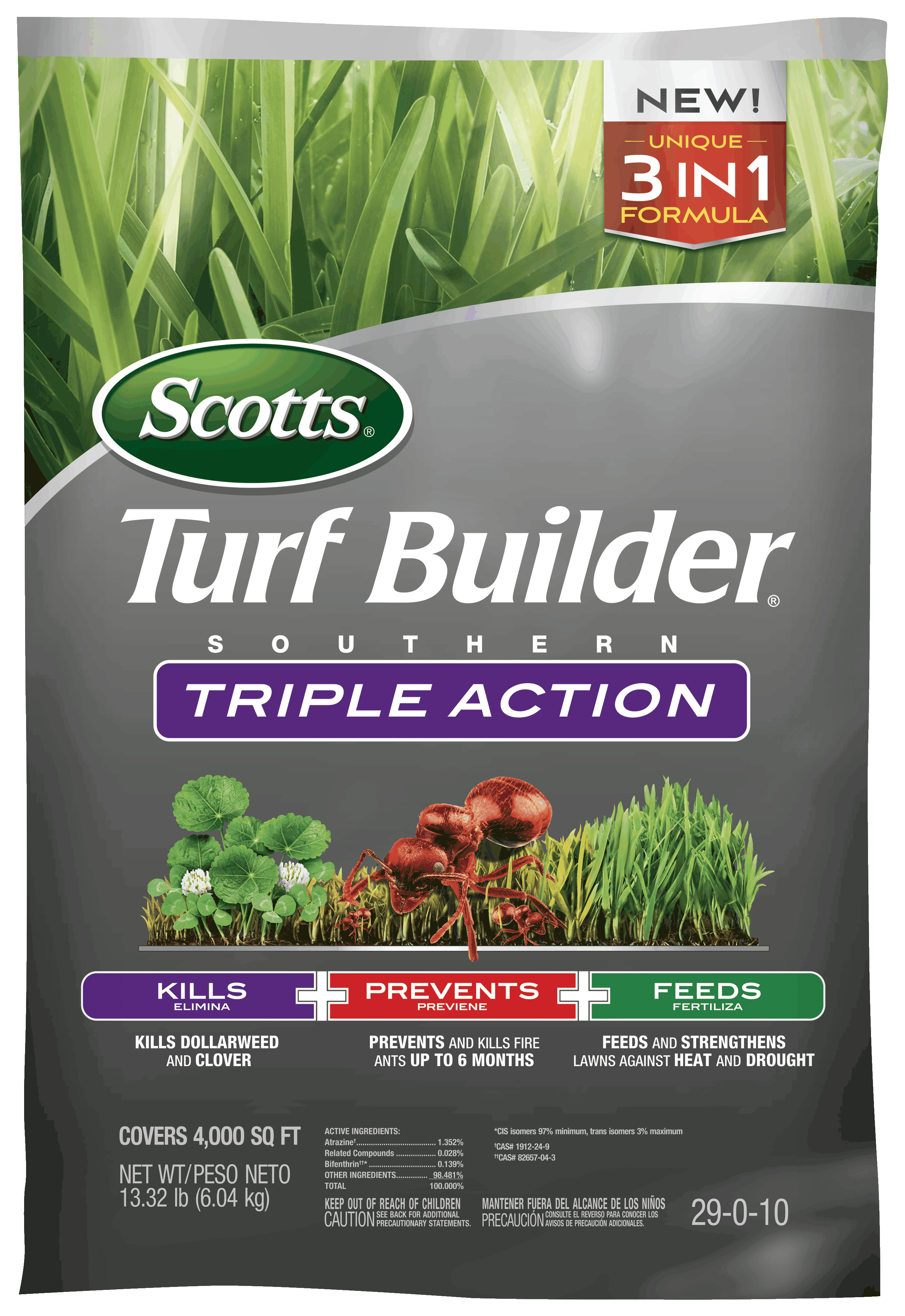 Scotts Turf Builder Southern Triple Action Three In