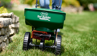 front view of Scotts Turf Builder Lawn Spreader