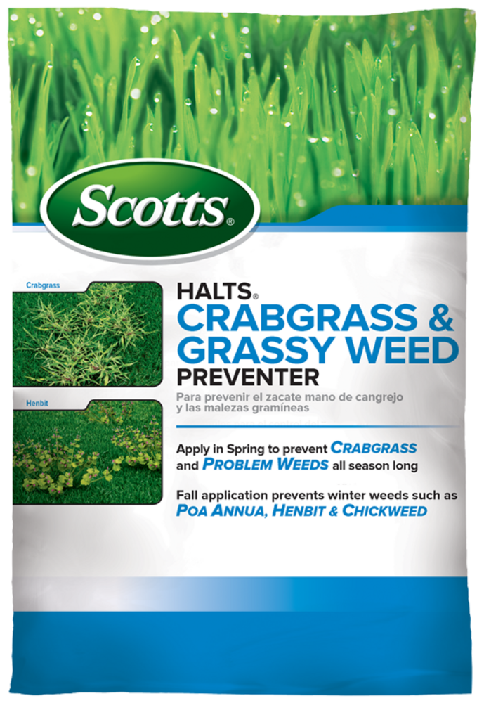 Scotts Halts Crabgrass And Grassy Weed Preventer Scotts