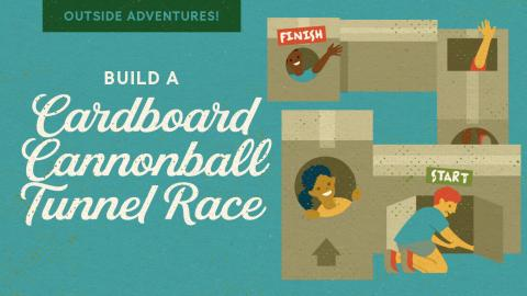 Build A Cardboard Cannonball Tunnel Race