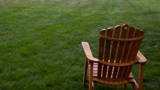large chair on lawn