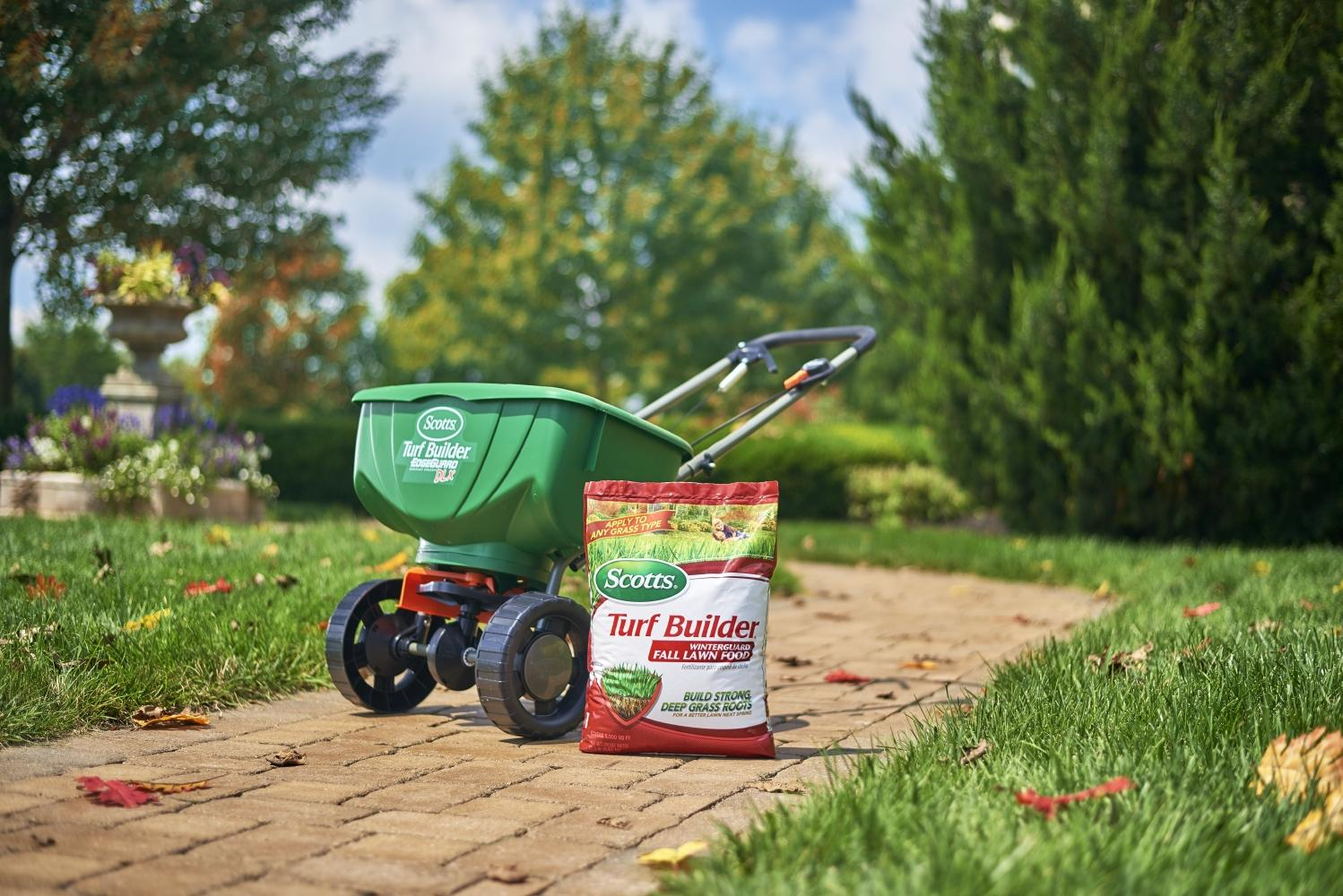 Fall is the Best Time to Seed & Feed - Spreader by Lawn Seed and Feed