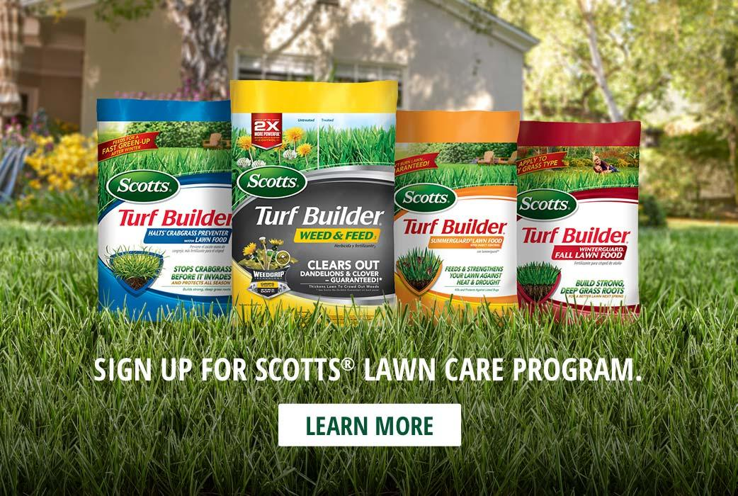 Sign Up for Scotts Lawn Care Program