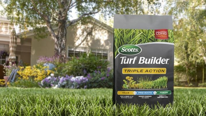 Bag of Triple Action on lawn