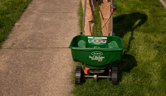 how to use scotts easy green spreader with blended seed