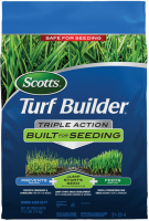 Scotts® Turf Builder® Triple Action Built For Seeding - Front of Bag