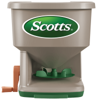 Front View of Scotts Whirl Hand-Powered Spreader
