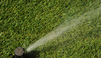 Best Ways to Grow Newly Planted Grass - Sprinkler in Grass