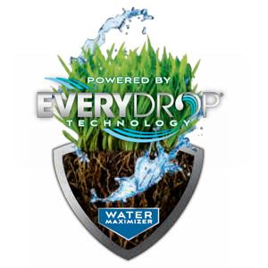 Everydrop Logo with Illustration of Water over Grass