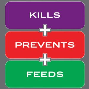Image showing the words- Kills, prevents, feeds