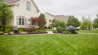 Large home with beautiful lawn