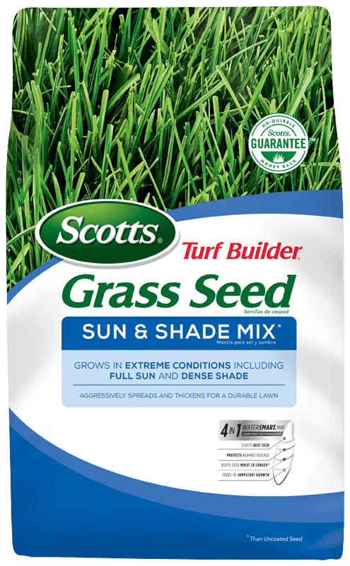 Bag of Scotts Turf Builder Grass Seed Sun & Shade Mix