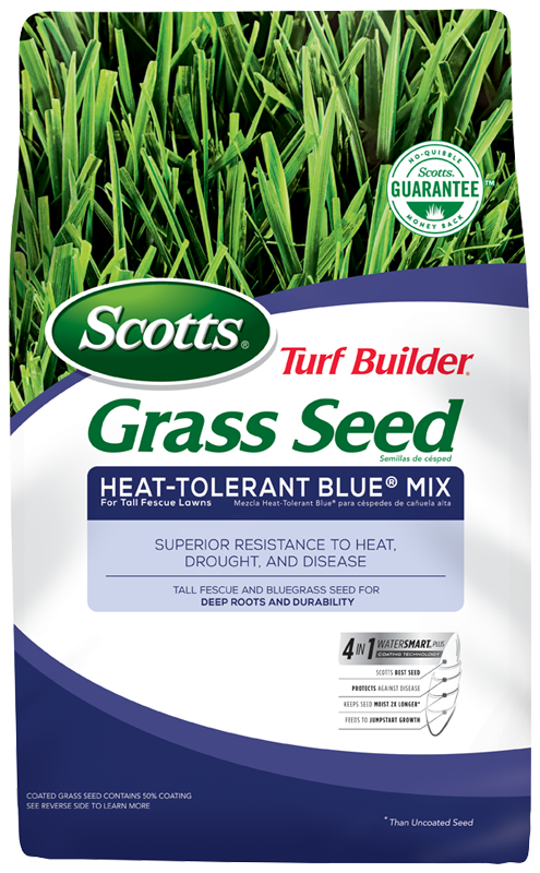 Scotts® Turf Builder® Grass Seed Heat-Tolerant Blue® Mix For Tall Fescue Lawns