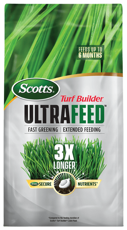 Package of Scotts Turf Builder UltraFeed
