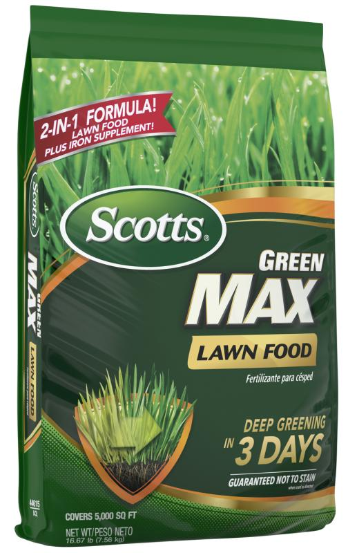 Scotts® Green Max™ Lawn Food package.