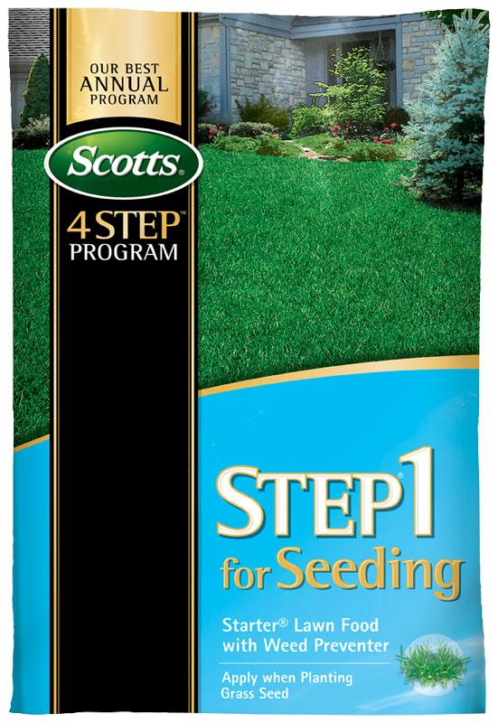 Scotts Step 1 For Seeding Starter Lawn Food with Weed Preventer