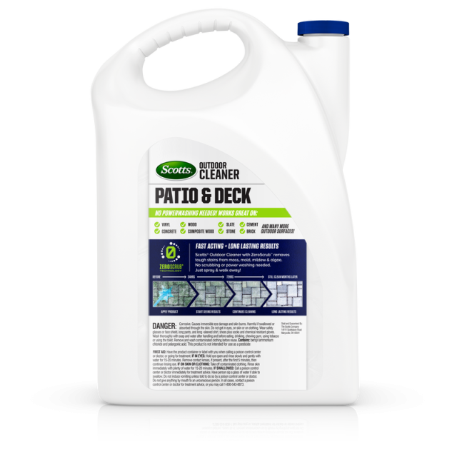 Scotts® Outdoor Cleaner Patio & Deck with ZeroScrub™ Technology Concentrate Back