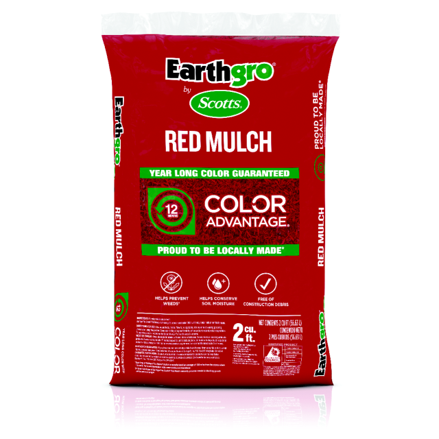 Red mulch transparent product packshot