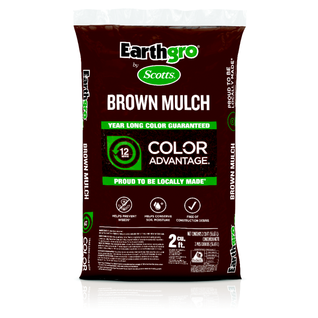 Brown mulch transparent product packaging