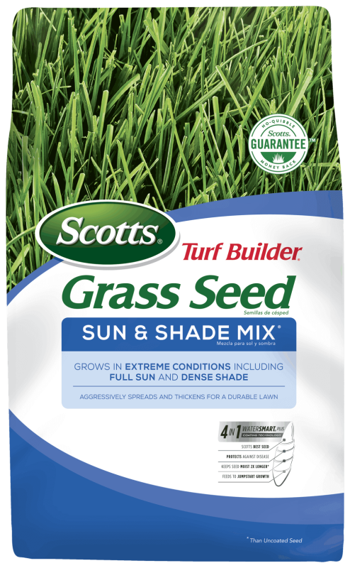 Bag of Scotts Turf Builder Grass Seed Sun And Shade Mix