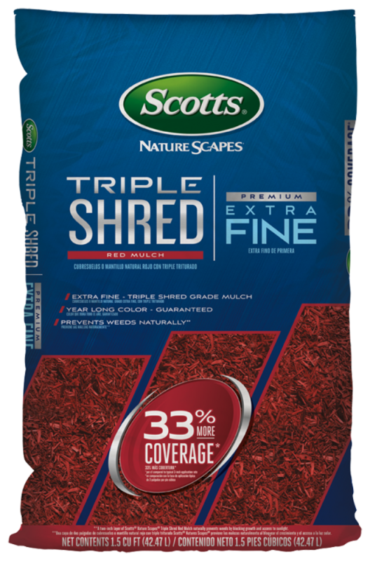 Triple Shred Nature Scapes Red Mulch