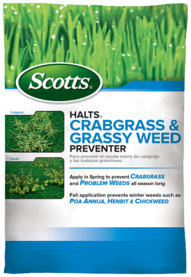 Scotts® Halts® Crabgrass & Grassy Weed Preventer