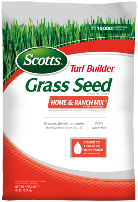 Scotts® Turf Builder® Grass Seed Home & Ranch Mix TM for Tall Fescue Lawns