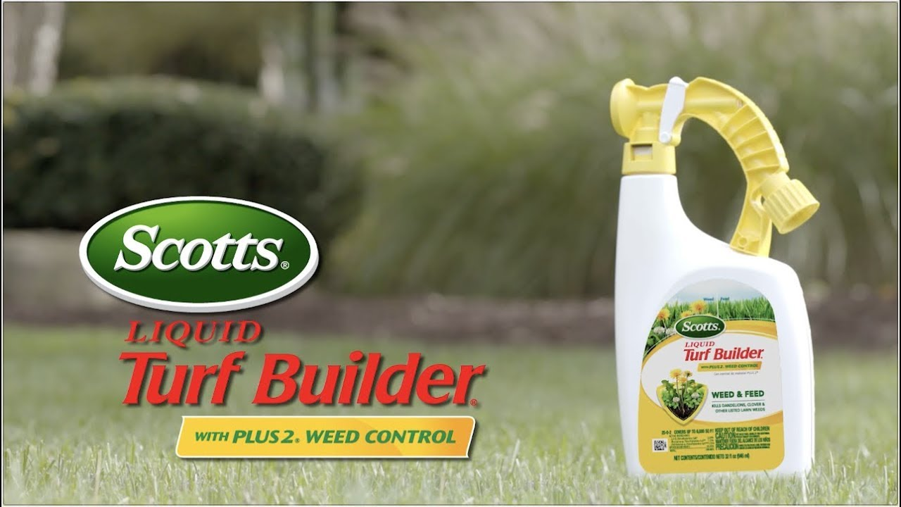 Scotts Liquid Turf Builder with Plus 2 Weed Control - Lawn Food - Scotts